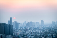 PM 2.5 Dust In Bangkok,Capital City Are Covered By Heavy Smog, Environmental Problem