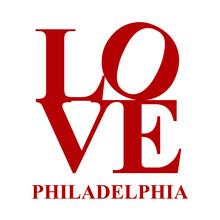 Love Philadelphia Vector Art In Red