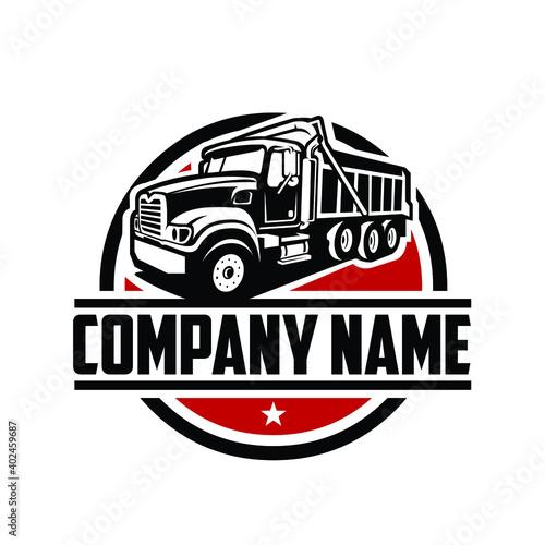 Tipper truck. dump truck. logo template