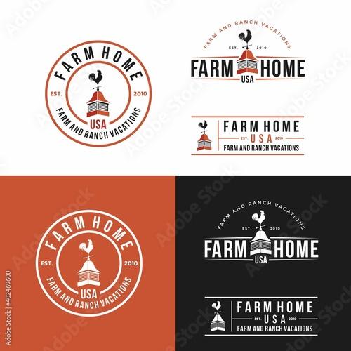 Photographie Farm house Logo Design Template