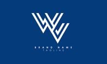 Alphabet Letters Initials Monogram Logo WV, VW, W And V