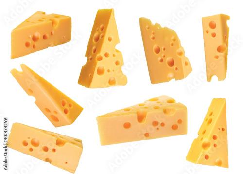 Fototapeta cheddar cheese cut obraz