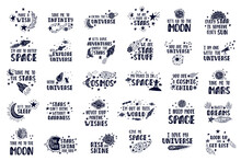 Collection Of Inspirationals Vector Lettering Phrases. Hand Drawn Kid Posters.