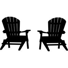 Adirondack Chairs Silhouette Vector