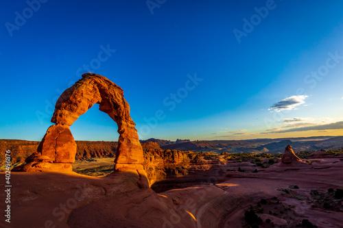 Fotografija Delicate Arch near sunset in Arches National Park