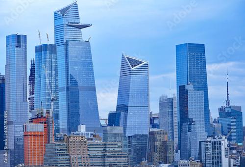 Fotografie, Obraz Manhattan midtown skyline in December 2020, seen from across the Hudson River