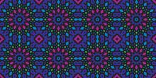 Decorative Ethnic Pattern Motif Background Premium Vector