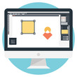 Design concept for graphic and web design flat style vector