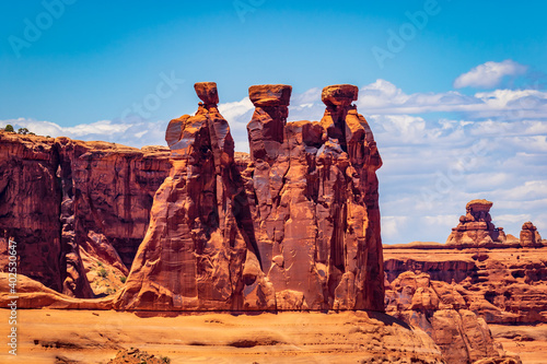 Fotografia Three Gossips in Arches National Park