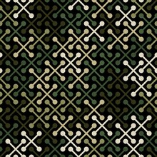 Vector Geometric Seamless Pattern With Simple Cross Shapes Silhouettes