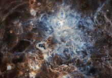 Tarantula Nebula In HST Palette