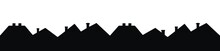 Roofs, Group Of Houses, Vector Icon, Black Silhouette