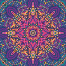 Festival Mandala Pattern Magic Wheel
