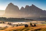 Fototapeta Na ścianę - Die Seiser Alm in Südtirol