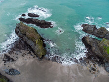 Western Cove Between Portreath And Bassets Cove In Cornwall England Uk