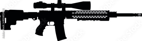 Fotografie, Obraz USA United States Army, United States Armed Forces, Marine Corps, Police fully automatic machine gun American Tactical Assault Rifle OMNI AR-15 rifle, officially AR-15 Carbine Caliber 5
