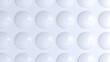 simple ceramic bubble circles pattern white 3d background