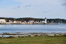 View Of Portsmouth Harbor Lighthouse, From New Castle, New Hampshire