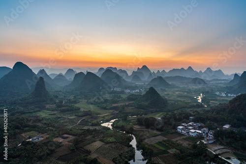 Fototapeta Karst Mountains in Guilin South China