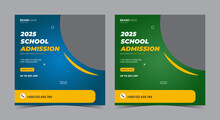 School Admission Social Media Post And Flyer