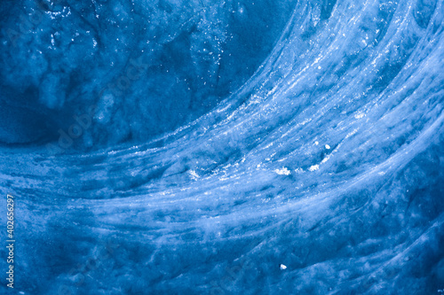 Canvas A special ice structure at a brook