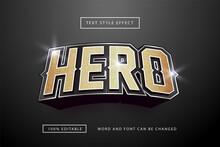 Gold Hero Text Effect Editable Premium Free Download