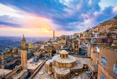 Mardin City sunset view in Turkey