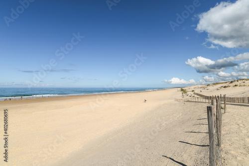 Fototapeta BISCARROSSE (Landes, France), vue sur la plage