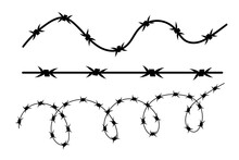Vector Illustration On Barbed Wire