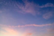 Twilight Sky In Winter Evening Time
