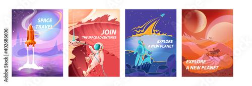 Papel de parede Space landscape posters