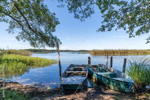 Fototapeta BISCARROSSE (Landes, France), vue sur le lac