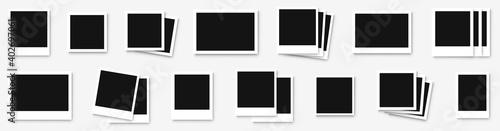 Foto Polaroid photo frame set isolated on white background
