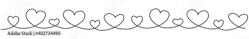 Photo Continuous line Hearts