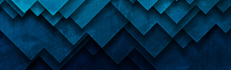 Dark blue abstract geometric grunge tech banner. Corporate vector background