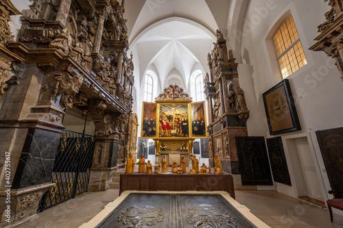 Fotografie, Obraz Innenaufnahmen der Stadtkriche Sankt Peter und Paul (Herderkriche) in Weimar