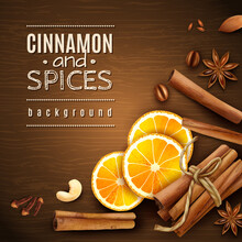 Cinnamon And Spices Background