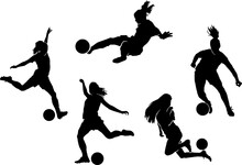 Female Soccer Player Silhouette