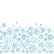 Hand drawn snowflakes, seamless pattern for your design.