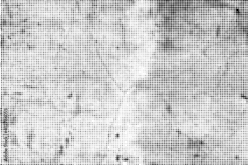 Obraz Vector grunge halftone black and white horizontal dots texture overlay. - fototapety do salonu