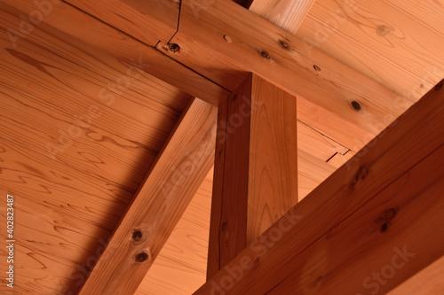 Fotografia, Obraz 木造建築のほぞ組