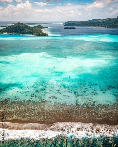 Fotografie, Obraz Tropical islands of bora bora polynesia