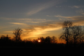Słońcem malowane - piękny zachód słońca