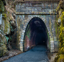 Western End Of The Historic Blue Ridge Tunnel In Afton, Virginia, Now Used By Hikers And Bikers.