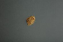 Oregano Spice Detail Macro Texture On A Grey Background.