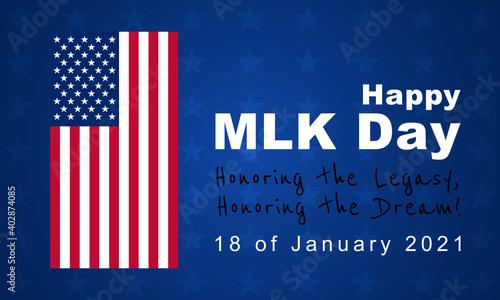 Obraz Martin Luther King Jr. Day, MLK  background, poster, card   - fototapety do salonu