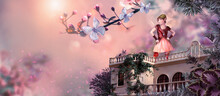 Fantasy And Fairy Tale Background For Children, 3d, CG