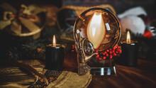 Winter Prediction And Magic Rituals, Tarot Cards. Magical Concept
