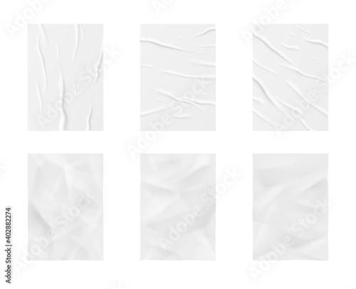 Fotografie, Obraz Glued paper wrinkled effect