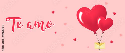 Fotografering te amo en español fondo día de los enamorados san valentín